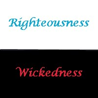 Righteousness vs Wicked