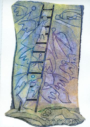 """Jacob's Ladder"" by Israeli artist Lika Tov"