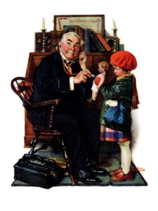 norman-rockwell-doctor-and-the-doll-march-9-1929